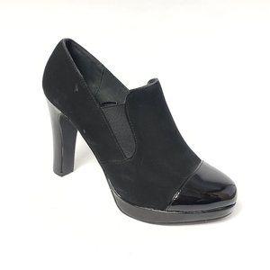 Impo Heel Platform Ankle Booties Black